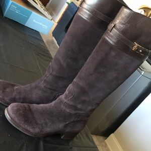 Tory. Burch suede and leather knee high boots